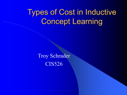 Types of Cost in Inductive Concept Learning