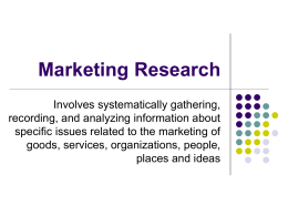 Marketing Research - York College of Pennsylvania