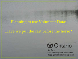 Planning to use Volunteer Data: Have we put the cart before the