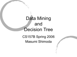 Data Mining and Decision Tree by Masumi Shimoda