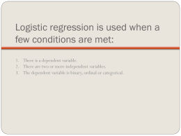 6. Nitty gritty details on logistic regression