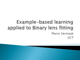 Example-based analysis of binary lens events(PV)