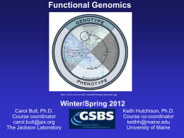 Winter/Spring 2012 - Mouse Genome Informatics