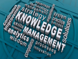 Knowledge Management - NASC Document Management System
