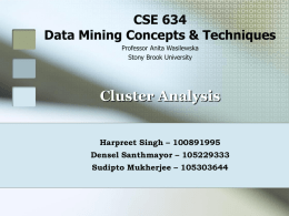 CSE 634 Data Mining Concepts & Techniques