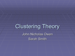 Clustering Theory
