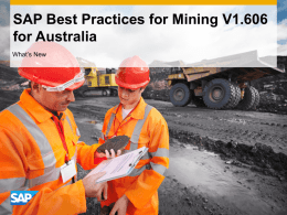 SAP Best Practices for Mining