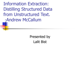 Distilling Structured Data from Unstructured Text