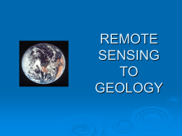 remote sensing to geology
