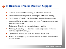 Role Activity Diagrams E-Business Process Decision Support