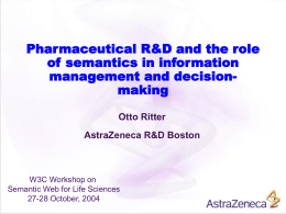 Pharmaceutical R&D and the role of semantics in information