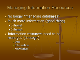 Managing Information Resources