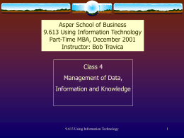 Data & Information Management