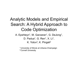 Analytic Models and Empirical Search: A Hybrid Approach to Code