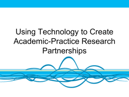 Leveraging Technology For Research: A case study from work