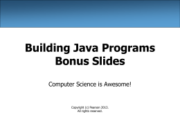 Bonus Slides: About Computer Science