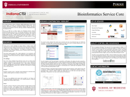 Bioinformatics Service Core