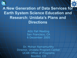 A New Generation of Data Services for Earth System Science
