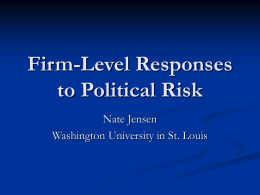 Firm-Level Responses to Political Risk