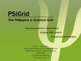 PSiGrid-The Philippine e