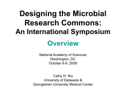 Microbial Commons - The National Academies