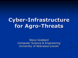 Cyber Infrastructure for Agro-Threats