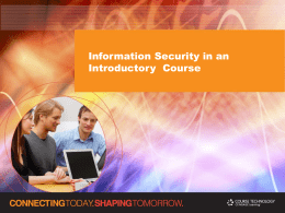 The Role of Security in an Introductory Course