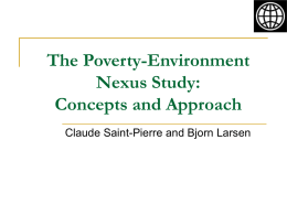 Poverty-Environment Nexus in the Lower Mekong Sub