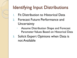 Identifying Input Distributions