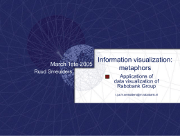 Information visualization: metaphors