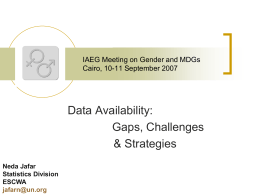 Data Availability: Gaps, Challenges and Strategies