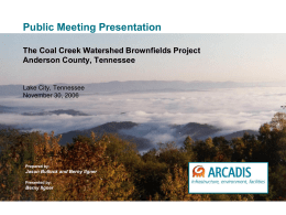 Coal Creek Watershed Brownfields Project