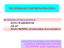 Presentation for technology demonstration using Customs Data