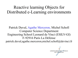 Reactive learning Objects for Distributed e