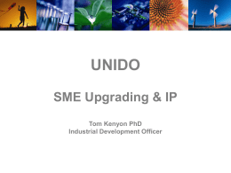 UNIDO & Supplier Development