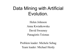 Data mining with Artificial Evolution.
