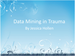 Data Mining in Trauma PP.Microsoft