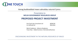 welsh government resources group