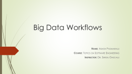 Big Data Workflows - Computer Science and Engineering