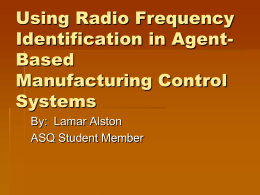 Using Radio Frequency Identification in Agent-Based