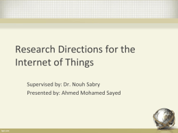 Research Directions for the Internet of Things