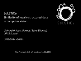 SoLSTiCe Similarity of locally structured data in computer vision