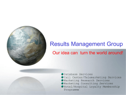 Results Management Group