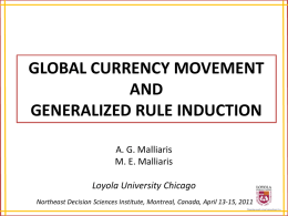 global currency movement and generalized rule induction