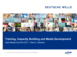 Training, Capacity Building and Media Development