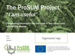 Introduction to ProSUM Year 1