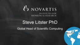 PowerPoint - NIBR Open Source - Novartis Institutes for BioMedical