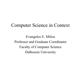Computer Science Curriculum in Context