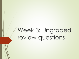 Week 3 512 review questionsx