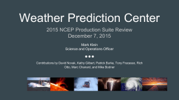 Weather Prediction Center - University at Albany Atmospheric